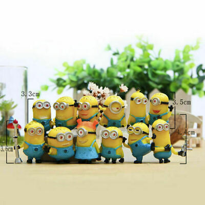 12 Set Despicable Me 2 Minions Movie Character Figure Doll Toys Gift Cake Decors • 7.99£