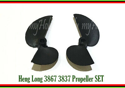 1 SET Propeller Left Right Heng Long 3867 3837 RC Speed Boat Accessory Part • 3.80£