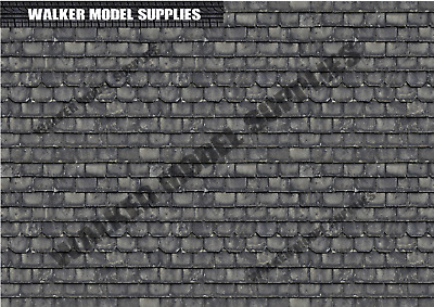 1/18 Scale (3xA4) Garage Tile Roof - Peel And Apply Stickers. Set 1 • 8.95£