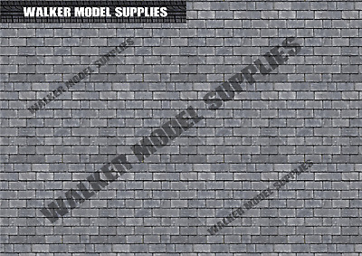 1/18 Scale (3xA4) Garage Tile Roof - Peel And Apply Stickers. Set 2 • 8.95£