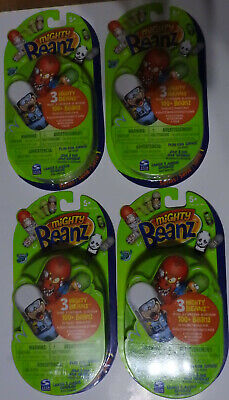 MIGHTY BEANZ PACK - SERIES 1 - NEW/SEALED  C2009 (X4) FREE P&P • 15.99£