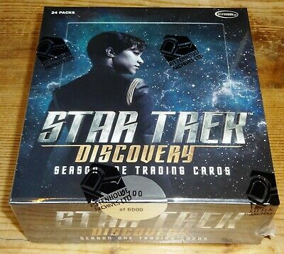 STAR TREK DISCOVERY Season One Trading Cards Sealed Box By RITTENHOUSE 2019 • 65£