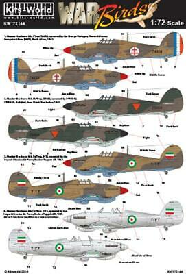 Kits-World KW172144 1/72 Hawker Hurricane - Foreign Operators Model Decals • 10.75£