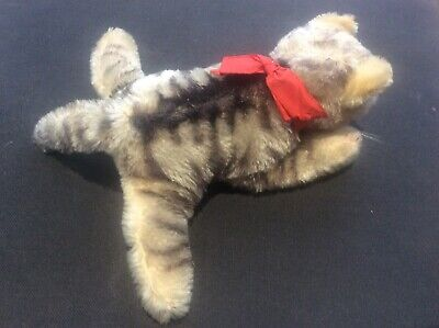 Steiff Floppy Kitty Soft Plush Toy 1959-67 Original Label & Button Cat Kitten • 45£