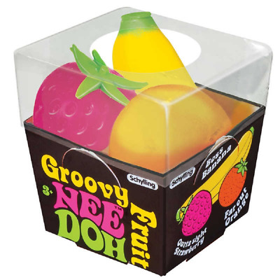 Nee-Doh Groovy Fruits, Sensory Stress Ball, Fidget Fiddle Stress Anxiety SEN ... • 9£