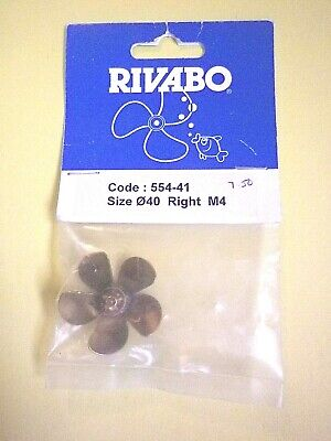 RIVABO BRASS PROPELLER 5 BLADE 40mm M4 RIGHT #554-41 • 7.50£