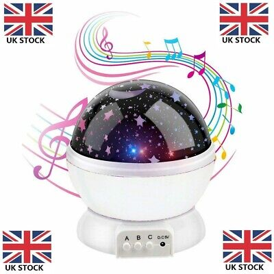 Calming Autism LED Light Sensory Projector Sky Star Night Lamp + Music • 9.95£