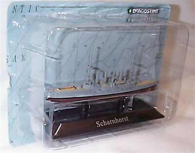 Scharnhorst Ship Mounted On Display Plinth 1:1250 Scale  New In Pack KZ42 • 7.25£