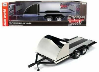 1/18 Trailer, Black/chrome Auto World (Twin Axle) . • 44£