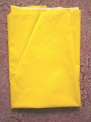 RIPSTOP NYLON SAIL CLOTH YELLOW  1.5 M X 1.2m • 7.50£