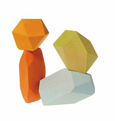 Grimm's Game And Wood Design 10053 - Gems Wood Colourful Faceted 4-Teilig • 22.53£