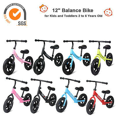 12'' Kids Balance Bike Push Bicycle Walking Running Training Child Toddlers Gift • 24.59£
