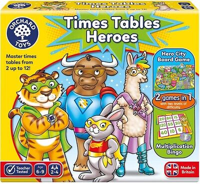 Orchard Toys Times Tables Heroes, KS2 Multiplication Maths MTC 6-9 Years Old • 13.50£