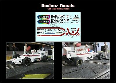 1/32 Scale Decals For Scalextric Arrows A8 - 2 Variations • 4£
