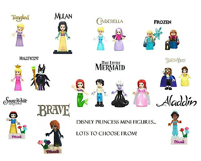Disney Princess Mini Figures Frozen, Little Mermaid, Mulan - Lego Compatible • 11.49£