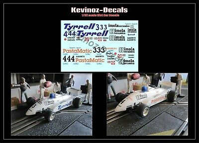 1/32 Scale Decals For Scalextric Tyrrell 011 - 2 Variations • 4£