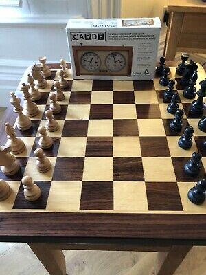 Quality Wooden Chess Board Complete With Triple Weighted Staunton Set • 125£