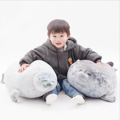 Chubby Blob Fluffy Seal Plush Cute Ocean Pillow Animal Stuffed Doll Toys Gift • 14.25£