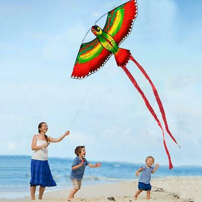 3D Parrot Kite Kids Toy Fun Outdoor Flying Activity Game Children With Tail UK • 3.89£