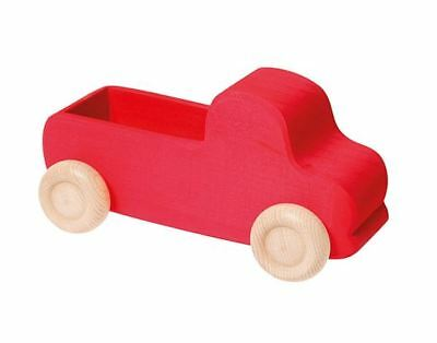 Grimm's Game And Wood Design 09440 - Truck Large Red Wood For Loaded New • 20.72£