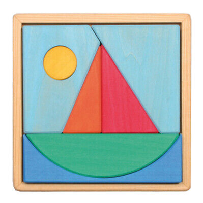 Grimm's Game And Wood Design 43693 Constructable Legespiel Sailing Ship IN Frame • 24.34£