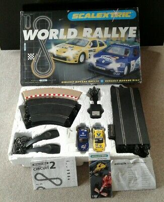 Scalextric Set World Rallye , Complete With Cars , Track , Controllers • 38£