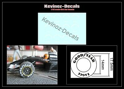 1/32 Scale Decals For Scalextric Goodyear Tyres • 4£