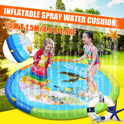 Outdoor Lawn Beach Animal Inflatable Water Spray Cushion Kids Sprinkler Play Mat • 18.84£