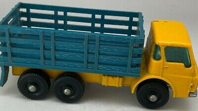 Matchbox Lesney No 4 Dodge Stake Truck - RARE BLUE Stakes - Near Mint • 34.99£