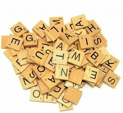 Wooden Scrabble Customise Choice Tiles Letters Number 5,10,20 Wholesale • 1.65£