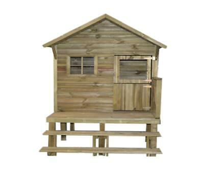 NO1 TRIGANO Wooden Playhouse  LENA  On Stilts - Keeps Kids Entertained For Hours • 429.99£
