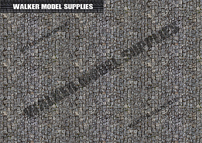 1:24 Scale (3xA4) Garage Cobble Road - Peel And Apply Decal /model Car, Design 5 • 8.95£