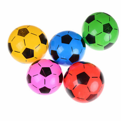 1, 4, 5+Pump Inflatable Football Sports Training Soccer Beach Ball Children Kids • 5.99£