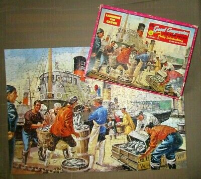 1950`s The Good Companion Jigsaw Puzzle Landing The Catch • 6.99£
