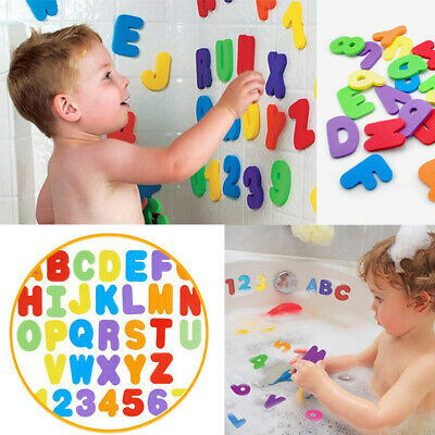 36Pcs Foam Bath Numbers And Letters Child 123 ABC Kids Bath Toy Water Fun DD UK • 4.85£