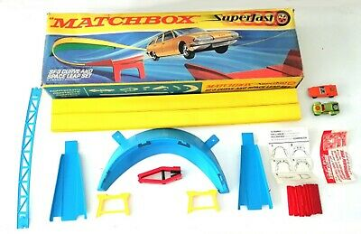 Vintage 1970's Matchbox Lesney Superfast ~ SF-3 CURVE AND SPACE LEAP SET ~ Boxed • 49.99£