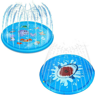 170cm 68  Inflatable Play Mat Water Toys Kids Outdoor Party Sprinkler Splash Pad • 12.79£