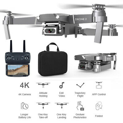 E68 WIFI FPV Video 2.4GHz RC Drone Rechargeable Folding Quadcopter Altitude Hold • 36.86£