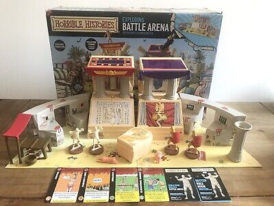 Horrible Histories Exploding Battle Arena Play Set - Complete (worlds Apart) • 24.99£