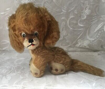 Adorable Vintage Googly Eyed Stuffed Toy Dog • 32£