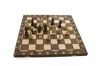Checkerboard Game Chess Wood Crafts Poland 47x47cm Peterandclo 6779 • 83.37£