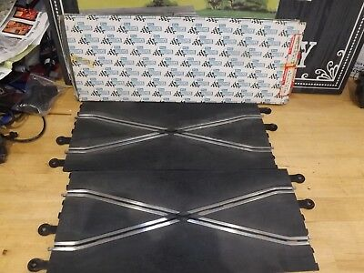 BOXED SCALEXTRIC CLASSIC C182 PT82 CROSSOVER STRAIGHT TRACK Excellent  CONDITION • 22£
