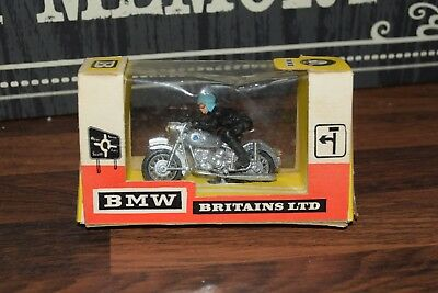 BRITAINS BMW & RIDER SILVER RACER VERSION  Cat-no 9688 BOXED Excellent   • 78.99£