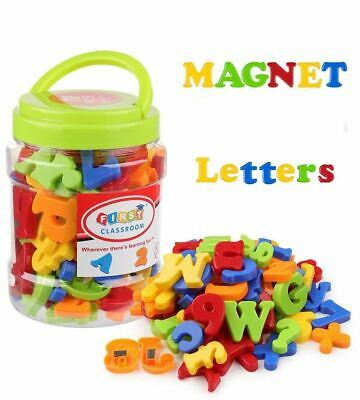 78Pcs Magnetic Capital Lowercase Alphabet Letters Numbers Toy With Jar Kids • 6.89£