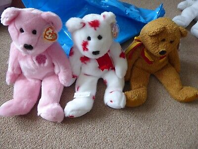Ty Beanie Buddies Sakura, Chinook And Germania, 3 Different Countries Mint Tags • 29.99£