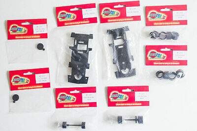 Job Lot Of New Airfix/MRRC Toyota 1:32 Slot Car Parts – Chassis, Tyres, Axles • 16.99£