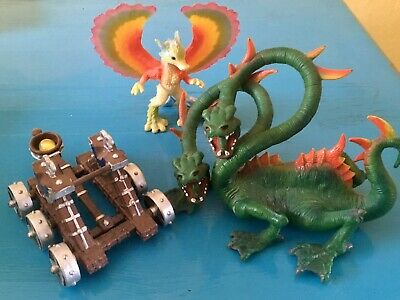 Dragon (ELC)  Mythical Beast  (Schleich)And Trebuchet (works With Rubber Band) • 1.04£