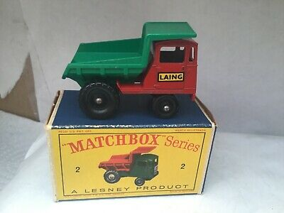 Matchbox / Lesney  1-75 Regular Wheels (no 2) Muir Hill Dumper (boxed) • 15£