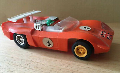 SCALEXTRIC Tri-ang C4-11 1969 ELECTRA Racing Car With Aerofoil • 5£