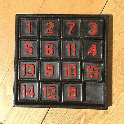 Vintage Bakelite Sliding Number Puzzle Game - Large And Chunky • 10£